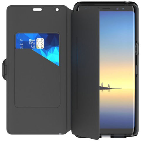 Shop TECH21 EVO WALLET FLEXSHOCK CARD FOLIO CASE FOR GALAXY NOTE 8 - BLACK Cases & Covers from TECH21