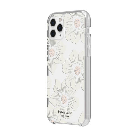 "Shop KATE SPADE NEW YORK Protective Hardshell Case For iPhone 11 Pro (5.8"") - Hollyhock Floral Stones Cases & Covers from Kate Spade New York"