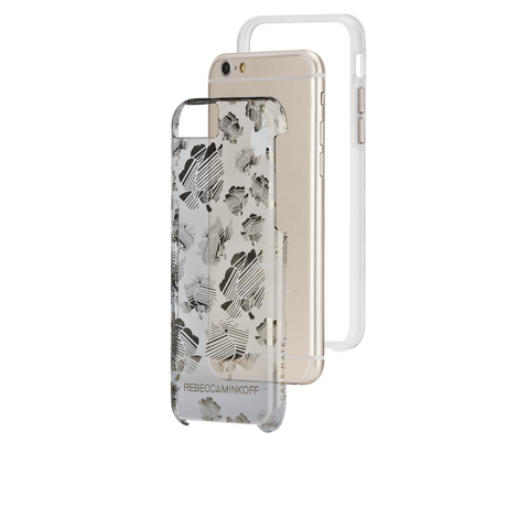Shop CaseMate Rebecca Minkoff Metallic Prints Case suits iPhone 6/6S - Stripped Floral  from Syntricate Asia