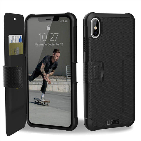 Shop UAG METROPOLIS CARD FOLIO CASE FOR IPHONE XS MAX - BLACK  from Syntricate Asia