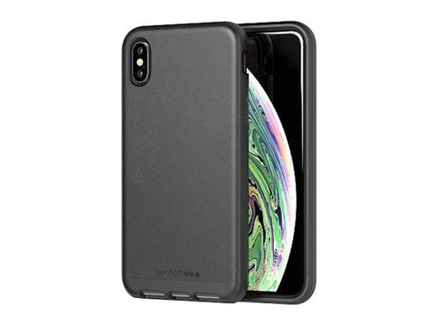 Shop TECH21 EVO LUXE FAUX LEATHER FLEXSHOCK CASE FOR IPHONE XS MAX- BLACK Cases & Covers from TECH21