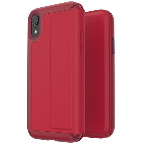 Shop SPECK PRESIDIO CARD FOLIO LEATHER CASE FOR IPHONE XR - ROUGE RED  from Syntricate Asia