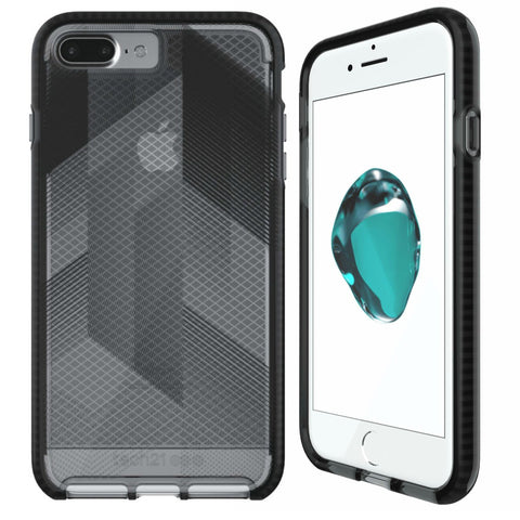 Shop TECH21 EVO CHECK URBAN EDITION CASE FOR IPHONE 8 PLUS/7 PLUS - BLACK/SMOKEY Cases & Covers from TECH21