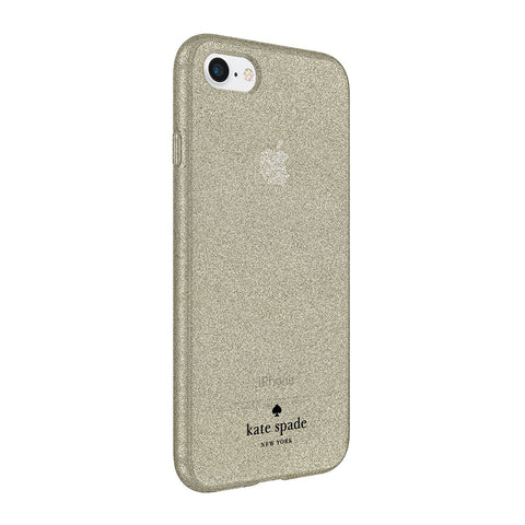 Shop KATE SPADE NEW YORK FLEXIBLE GLITTER CASE FOR iPHONE 8/7/6S - GOLD Cases & Covers from Kate Spade New York