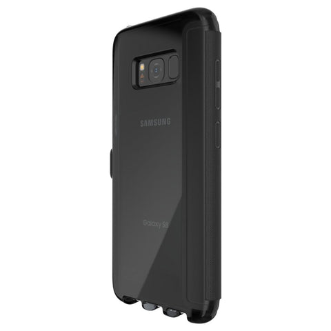 Tech21 EVO WALLET FLEXSHOCK FOLIO CASE FOR GALAXY S8+ (6.2 inch) - BLACK