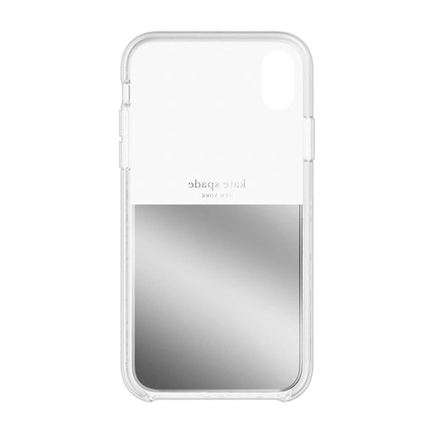 Shop KATE SPADE NEW YORK HALF CLEAR CRYSTAL CASE FOR IPHONE XR - SILVER  from Syntricate Asia