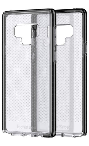 TECH21 EVO CHECK FLEXSHOCK CASE FOR GALAXY NOTE 9 - SMOKEY/BLACK
