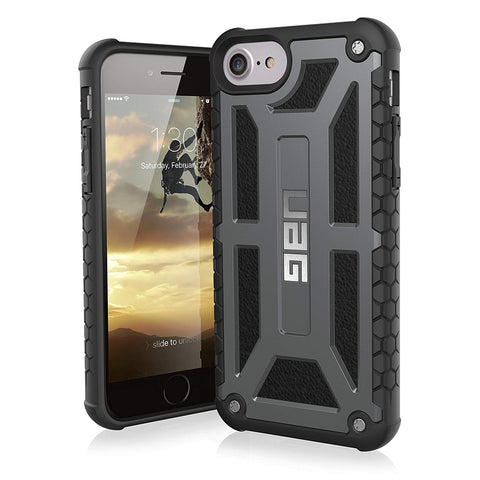 Shop UAG MONARCH FEATHER-LIGHT RUGGED CASE FOR IPHONE 8/7/6S - GRAPHITE  from Syntricate Asia