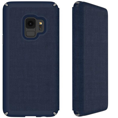 Shop SPECK PRESIDIO IMPACTIUM FOLIO CASE FOR GALAXY S9 - HEATHERED BLUE/GREY  from Syntricate Asia