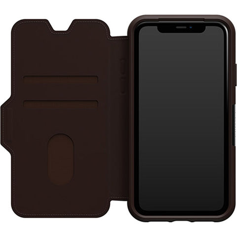 "Shop Otterbox Strada Leather Folio Wallet Case For iPhone 11 (6.1"") - Espresso Cases & Covers from Otterbox"