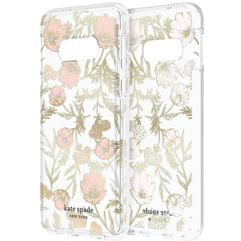 clear case with flowe pattern for galaxy s10e