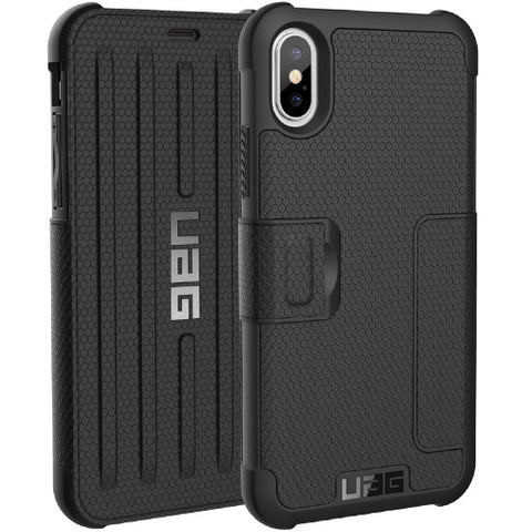 Shop UAG METROPOLIS CARD FOLIO CASE FOR iPHONE XS/ iPHONE X - BLACK  from Syntricate Asia