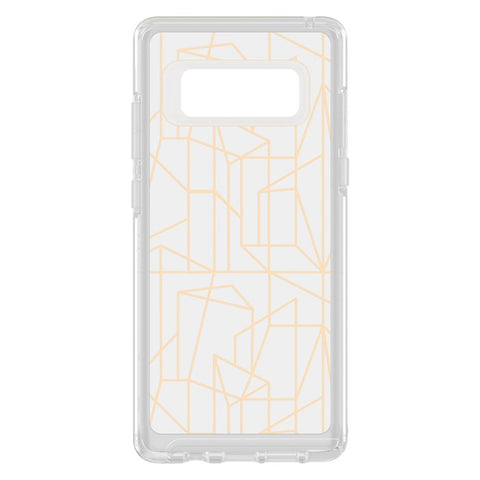 Shop OTTERBOX SYMMETRY CLEAR GRAPHICS SLIM CASE FOR SAMSUNG GALAXY NOTE 8 - DROP ME A LINE Cases & Covers from Otterbox