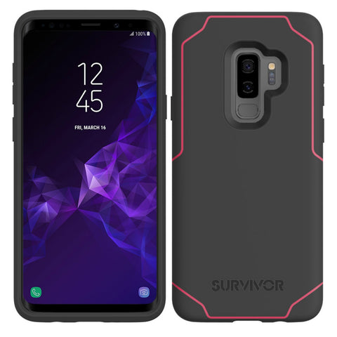 Shop GRIFFIN SURVIVOR STRONG CASE FOR SAMSUNG GALAXY S9 PLUS - GREY/PINK Cases & Covers from Griffin