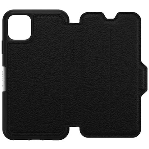 "Otterbox Strada Leather Folio Wallet Case For iPhone 11 Pro Max (6.5"") - Shadow"