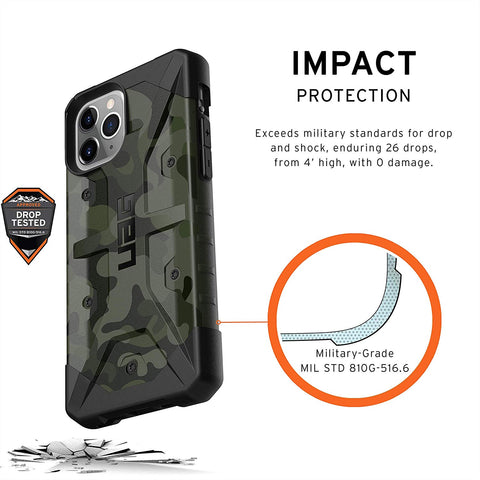 "UAG Pathfinder SE Feather-Light Rugged Case iPhone 11 Pro (5.8"") - Forest Camo"