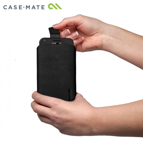 Shop CaseMate Leather Signature Collection (CM018649) Large Universal Pouch (Black)  from Syntricate Asia