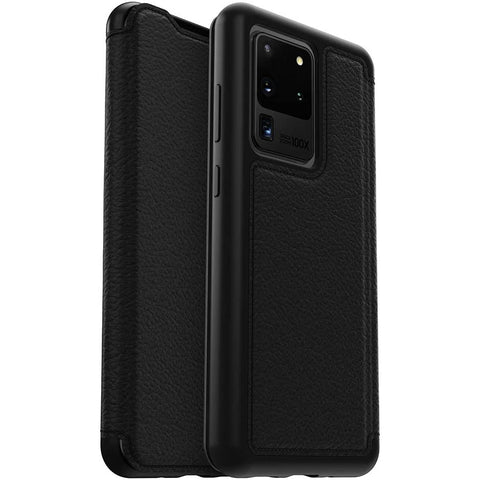 "Shop OTTERBOX Strada Leather Card Folio Wallet Case For Galaxy S20 Ultra 5G (6.9"") - Black Cases & Covers from Otterbox"