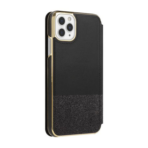 "Shop KATE SPADE NEW YORK Inlay Folio Wallet Case For iPhone 11 Pro Max (6.5"") - Black Munera Cases & Covers from Kate Spade New York"