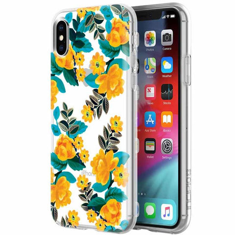 iphone xs flower case with yellow flower