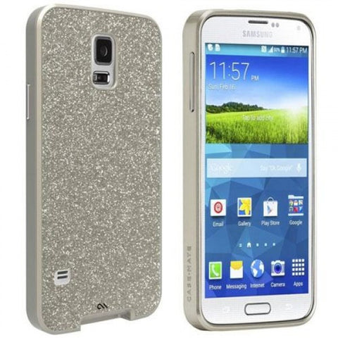 Shop CaseMate Galm Glitter Case suit Galaxy S5 - Champagne  from Syntricate Asia