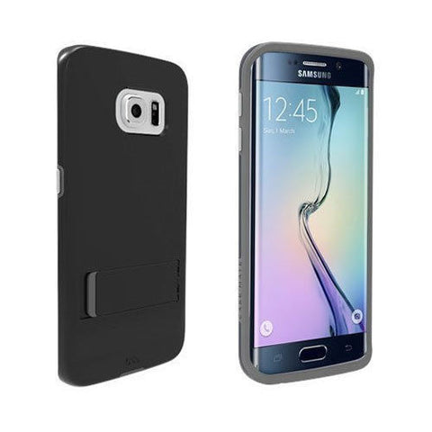 Shop CaseMate Tough Stand Case suits Samsung Galaxy S6 Edge - Black/Grey Cases & Covers from Casemate