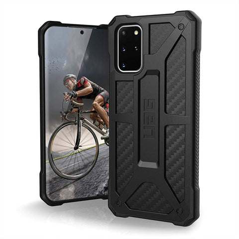 "Shop UAG Monarch Handcrafted Rugged Case For Galaxy S20 Plus (6.7"") - Carbon Fiber Cases & Covers from UAG"