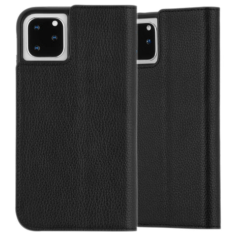 "Shop CaseMate Leather Wallet Folio Case For iPhone 11 Pro Max (6.5"") - Black  from Syntricate Asia"