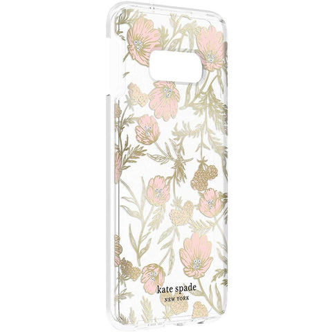 Shop KATE SPADE NEW YORK HARDSHELL CLEAR CASE FOR GALAXY S10E (5.8-INCH) - BLOSSOM PINK FLORAL Cases & Covers from Kate Spade New York