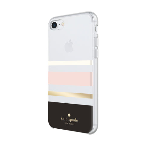 Shop KATE SPADE NEW YORK PROTECTIVE HARDSHELL CASE FOR iPHONE 8/7/6S - CHARLOTTE STRIPE Cases & Covers from Kate Spade New York