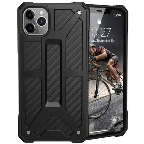 "Shop UAG Monarch Handcrafted Rugged Case for iPhone 11 Pro Max (6.5"") - Carbon Fiber Cases & Covers from UAG"