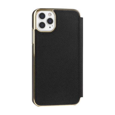 "Shop KATE SPADE NEW YORK Inlay Folio Wallet Case For iPhone 11 Pro Max (6.5"") - Black Cases & Covers from Kate Spade New York"
