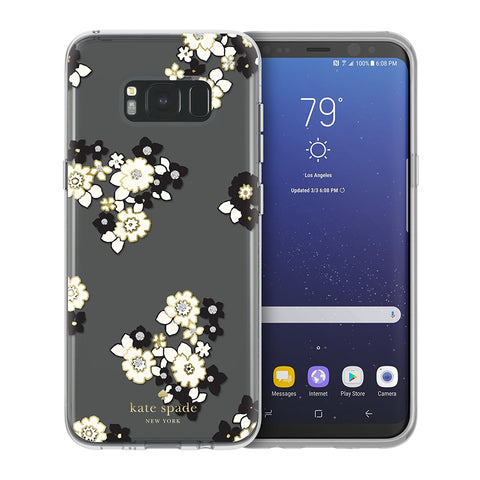 Shop KATE SPADE NEW YORK PROTECTIVE HARDSHELL CASE FOR GALAXY S8+ (6.2 inch) - FLORAL BURST Cases & Covers from Kate Spade New York
