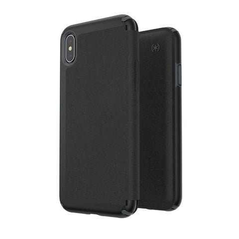 Shop SPECK PRESIDIO CARD FOLIO CASE FOR IPHONE XS MAX - BLACK/GREY  from Syntricate Asia