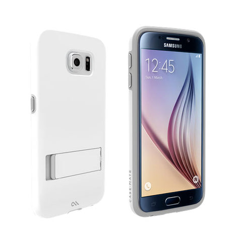 Shop CaseMate Tough Stand Case suits Samsung Galaxy S6 - White/Grey Cases & Covers from Casemate