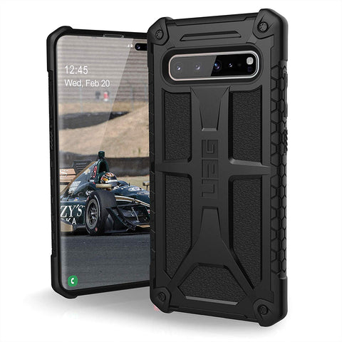 UAG MONARCH HANDCRAFTED RUGGED CASE FOR GALAXY S10 5G (6.7-INCH) - CARBON FIBER