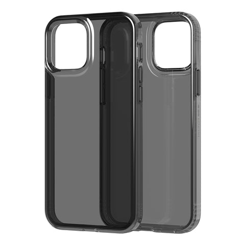 Anti backterial case for your iphone 12 and 12 pro from Tech21. Black minimalist design with drop protection.