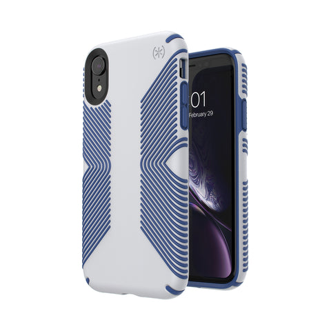 Shop SPECK PRESIDIO GRIP IMPACTIUM CASE IPHONE XR - GREY/BLUE  from Syntricate Asia