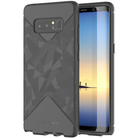TECH21 EVO TACTICAL FLEXSHOCK SLIM RAW CASE FOR GALAXY NOTE 8 - BLACK