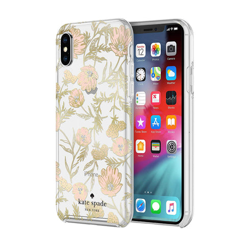 Shop KATE SPADE NEW YORK PROTECTIVE HARDSHELL CASE FOR IPHONE XS MAX - BLOSSOM Cases & Covers from Kate Spade New York