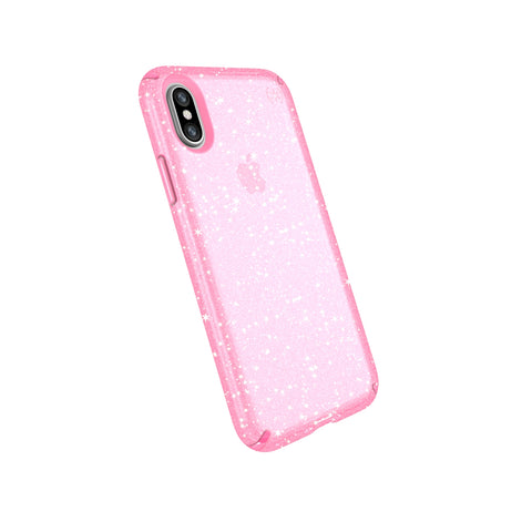 Shop SPECK PRESIDIO CLEAR GLITTER IMPACTIUM CASE FOR iPHONE XS/X - BELLA PINK GOLD  from Syntricate Asia