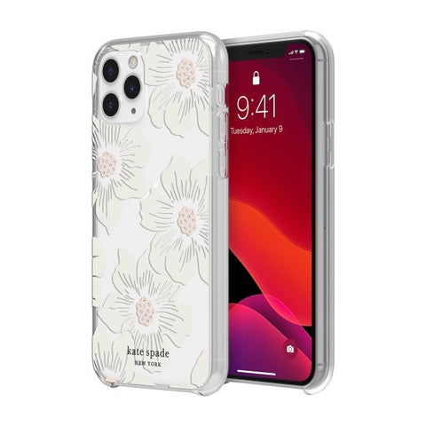"Shop KATE SPADE NEW YORK Protective Hardshell Case For iPhone 11 Pro  Max (6.5"") - Hollyhock Floral Stones Cases & Covers from Kate Spade New York"