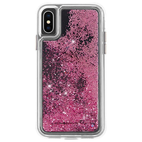 Shop CASEMATE WATERFALL GLITTER CASE FOR IPHONE XS MAX- ROSE GOLD Cases & Covers from Casemate