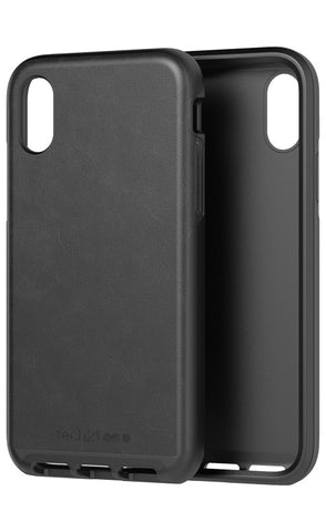 Shop TECH21 EVO LUXE FAUX LEATHER FLEXSHOCK CASE FOR IPHONE XS/X - BLACK Cases & Covers from TECH21