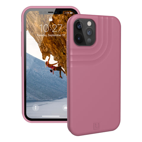 shop off new rugged case best drop protection for iPhone 12 pro/12 with pink color look more feminine from UAG.