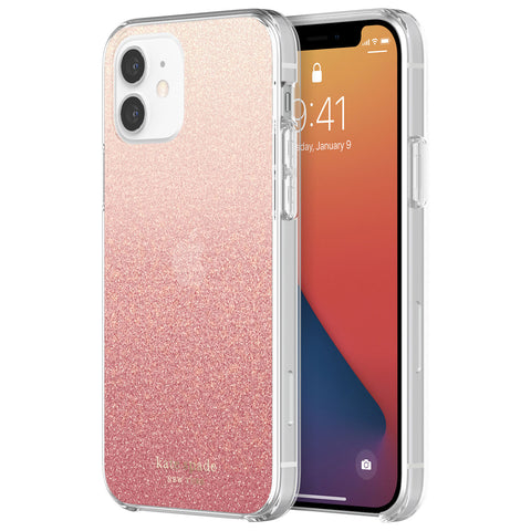 Shop off your new iPhone 12 pro/12 Protective Hardshell Case - Glitter ombre from Kate Spade New York buy online only at syntricate.