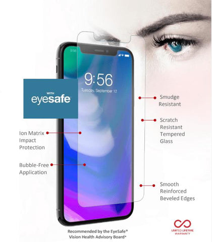 Shop ZAGG INVISIBLESHIELD GLASS PLUS VISIONGUARD SCREEN PROTECTOR FOR IPHONE XS/X - ANTI BLUE LIGHT CLEAR  from Syntricate Asia