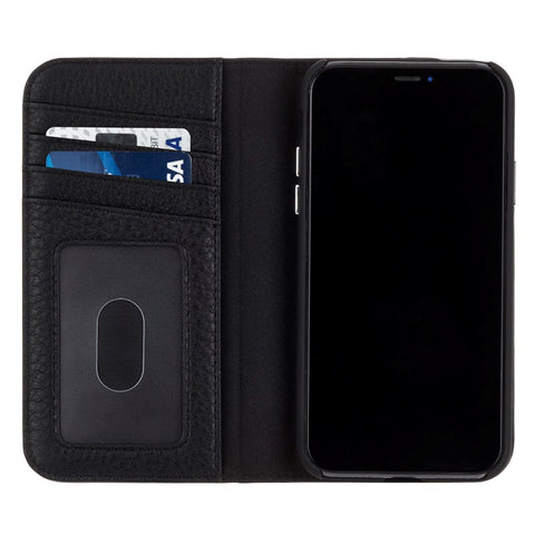Shop CASEMATE LEATHER WALLET FOLIO CASE FOR IPHONE XS MAX - BLACK Cases & Covers from Casemate