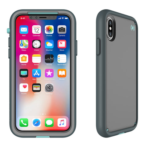 Shop SPECK PRESIDIO ULTRA RUGGED CASE FOR IPHONE X - SAND GREY/SURF TEAL  from Syntricate Asia