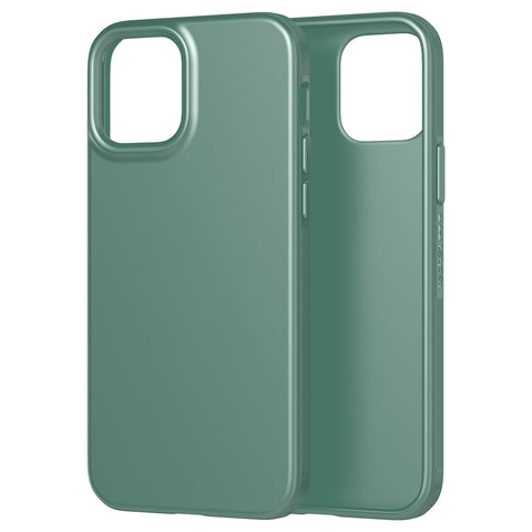 the new case comes with easy to press button and good quality of drop protection ready for your iphone 12 pro/12 with green color from tech21.